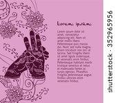element yoga varun mudra hands... | Shutterstock .eps vector #352965956