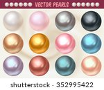 Set Of Vector Pearls Made With...