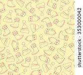 beige hand drawn seamless... | Shutterstock .eps vector #353000042