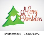 christmas greeting card. merry... | Shutterstock .eps vector #353001392
