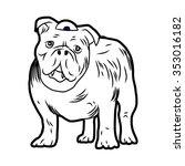 dog | Shutterstock .eps vector #353016182