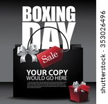 boxing day sale shopping bag... | Shutterstock .eps vector #353026496