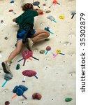 teen taking a big step up an... | Shutterstock . vector #35302879