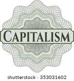 capitalism linear rosette | Shutterstock .eps vector #353031602