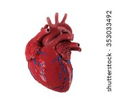 3d rendered human heart... | Shutterstock . vector #353033492