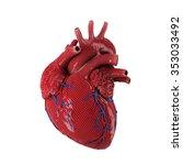 3d rendered human heart... | Shutterstock . vector #353033492