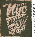 college  varsity vector label... | Shutterstock .eps vector #353033912