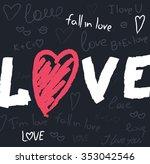 graphic love on dark background