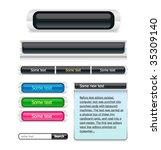 menu buttons set | Shutterstock .eps vector #35309140