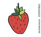 cartoon strawberry isolated on... | Shutterstock .eps vector #353095862