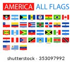 flags of america   full vector... | Shutterstock .eps vector #353097992