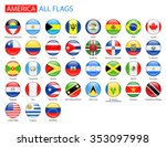 round glossy flags of america   ... | Shutterstock .eps vector #353097998