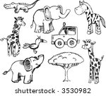 sketchy safari set vector... | Shutterstock .eps vector #3530982