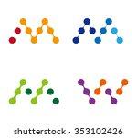 Abstract Water Molecule Vector...