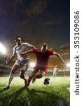 soccer players in action on... | Shutterstock . vector #353109086