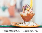 delicious fish ceviche  typical ... | Shutterstock . vector #353122076