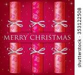 merry christmas cracker card in ...   Shutterstock .eps vector #353122508