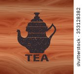 Silhouette Of A Tea Kettle Wit...