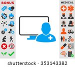 online doctor glyph icon. style ... | Shutterstock . vector #353143382