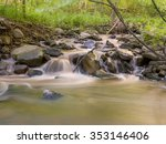 cascading river with motion...