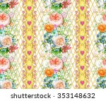 seamless composition with... | Shutterstock . vector #353148632