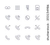 devices icons | Shutterstock .eps vector #353154986