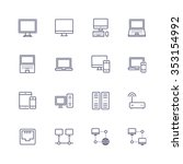 devices icons | Shutterstock .eps vector #353154992