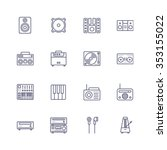 devices icons | Shutterstock .eps vector #353155022
