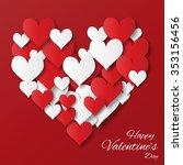 valentine's day applique... | Shutterstock .eps vector #353156456