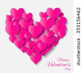 valentine's day applique... | Shutterstock .eps vector #353156462