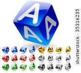 glossy alphabet on a cubes....   Shutterstock .eps vector #35316235