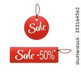 illustration of sale labels two ... | Shutterstock .eps vector #353164562