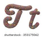 chocolate cream candy font | Shutterstock . vector #353175062