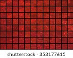 bright abstract mosaic red... | Shutterstock . vector #353177615