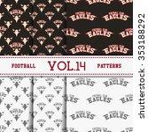 set of american football... | Shutterstock .eps vector #353188292