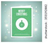 christmas balls icons on... | Shutterstock .eps vector #353192882