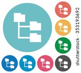 flat folder structure icon set...