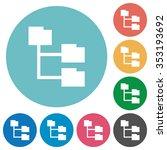 flat folder structure icon set...