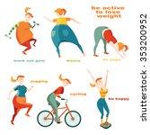 set of vector illustrations in ... | Shutterstock .eps vector #353200952