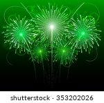 Green Festive Fireworks ...