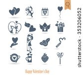 simple flat icons collection... | Shutterstock .eps vector #353206052