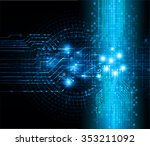 dark blue color light abstract... | Shutterstock .eps vector #353211092