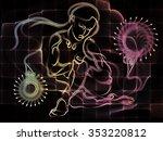 human tangents series.... | Shutterstock . vector #353220812