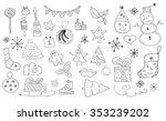 set of christmas doodles | Shutterstock .eps vector #353239202
