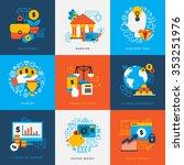 finance design concept set of...   Shutterstock .eps vector #353251976