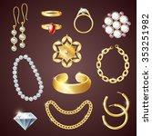 Jewelry Realistic Set With...