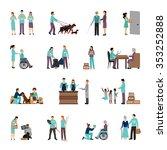 volunteers set with people... | Shutterstock .eps vector #353252888