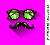 hipster vintage green... | Shutterstock .eps vector #353282786
