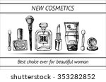 set of professional cosmetics... | Shutterstock .eps vector #353282852