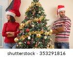 unhappy young couple arguing... | Shutterstock . vector #353291816